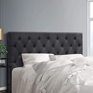 Queen Size Headboard, Fabric Upholsterd Bed Head, Charcoal
