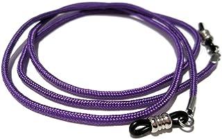 ATLanyards Purple Eyeglass Lanyard, Holder for Glasses, Black Grips, 358