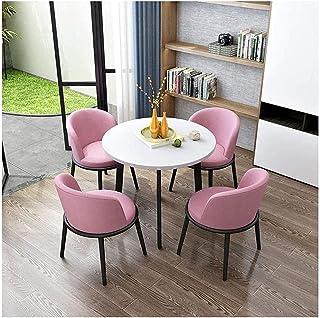 Table de salle à manger et de loisirs - Table ronde en bois - Style nordique moderne minimaliste - Table ronde en bois - P...