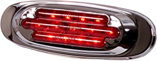Maxxima M72270R 13 LED Red Oval Clearance Marker Light with Chrome Stainless Steel Bezel