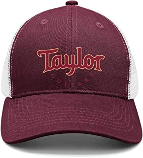 Heart Wolf Taylor-Guitars-Logo- Mens Womens Washed Baseball Cap Casual Flat-Brimmed Hat Rugged