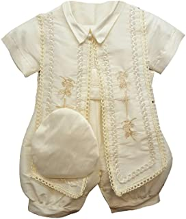 4067d3e785a59d Newdeve Baby Boys Christening Baptism Set Ivory Outfit with Hat