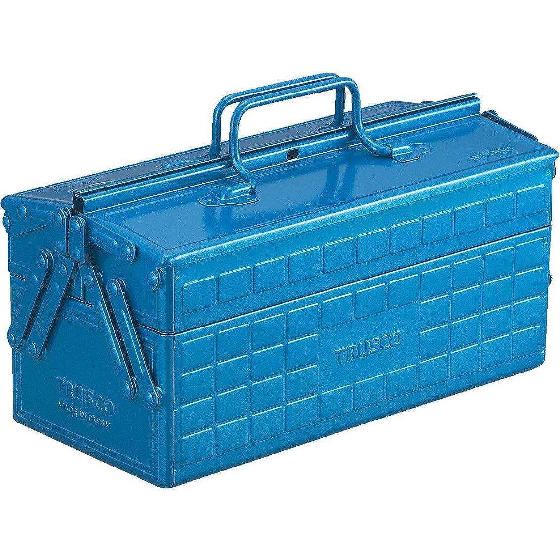 ポーチ艶ランドリーTRUSCO(トラスコ) 2段工具箱 350X160X215 ブルー ST-350-B