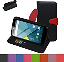 BLU Studio G Case,Mama Mouth [Stand View] Folio Flip Premium PU Leather [Wallet Case] with Built-in Media Stand ID Credit Card/Cash Slots and Inner Pocket Cover Case for BLU Studio G D790u, Black