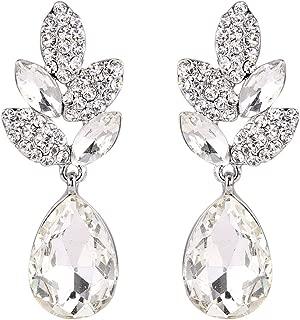 EVER FAITH® Art Deco Kristall Party Ohrringe saphirblau Silber-Ton