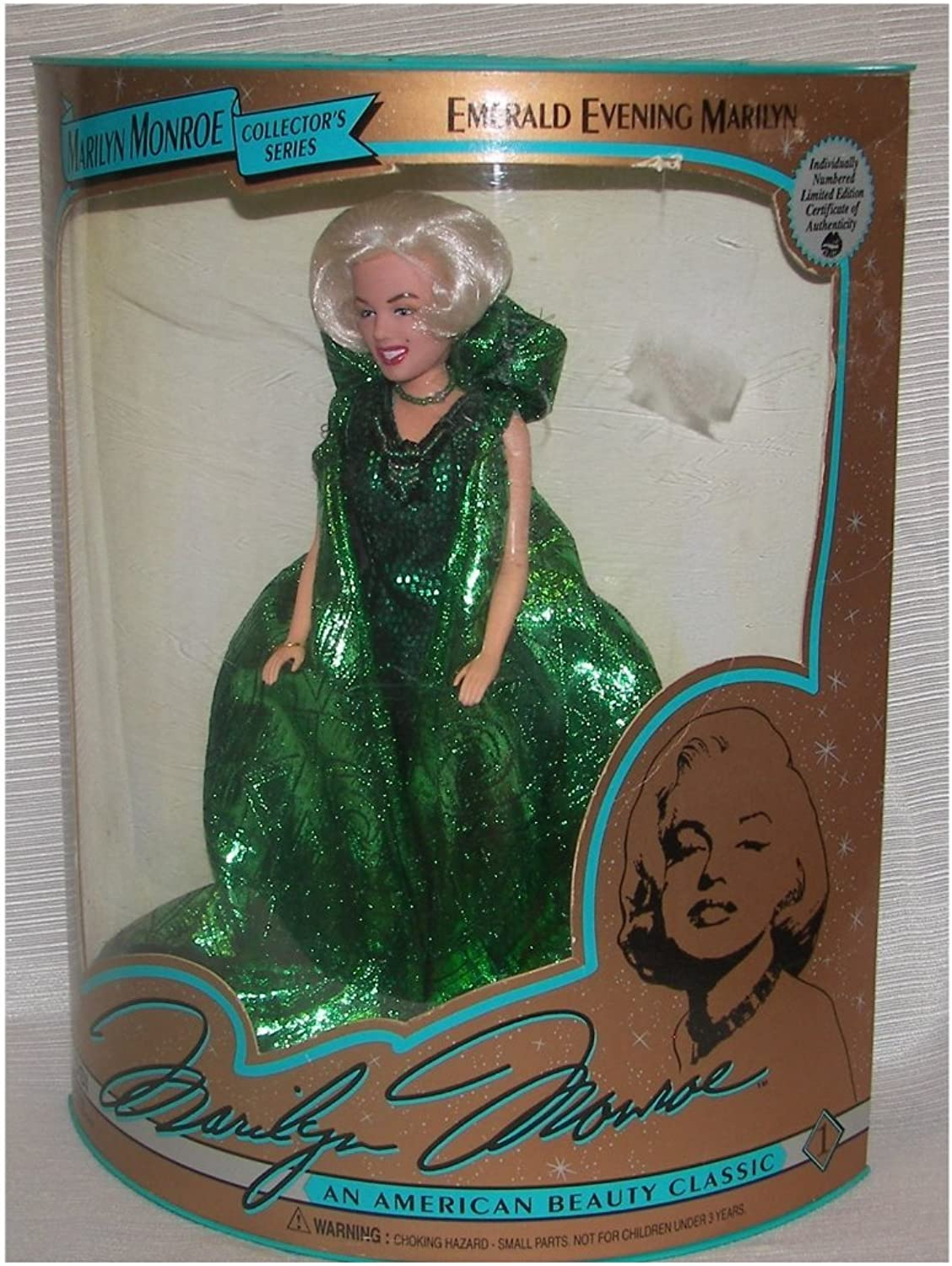 Marilyn Monroe Collector's Series Emerald Evening Gown Doll by DSI