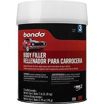 Bondo Body Filler, Original Formula for Fast, Easy Repair & Restoration of Your Vehicle, 7 lbs. with 2.75 oz Hardener