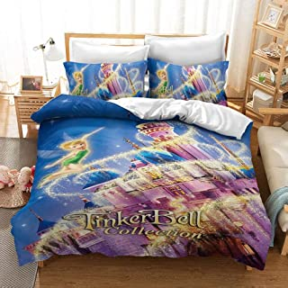 Fairytale Kids Print Details about  /Colorful Quilted Bedspread /& Pillow Shams Set
