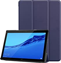 RKINC Trifold Smart Case for Mediapad T3 10, Lightweight Smart Cover with Auto Sleep/Wake, Soft Back Cover for Huawei Mediapad T3 10 9.6 Inch 2017 Release (Navy Blue)