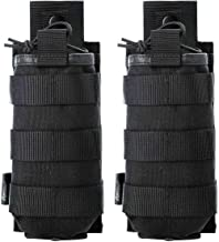 Tactical Universal Radio Case   Holster   Pouch   Holder   Bag Military Molle Radio Case for Baofeng Motorola Midland CB Walkie Talkies Compatible with 5.11 Bags (Black 2 Pack)