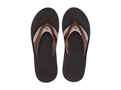 Reef Fanning Leather (Brown/Brown 4) Men