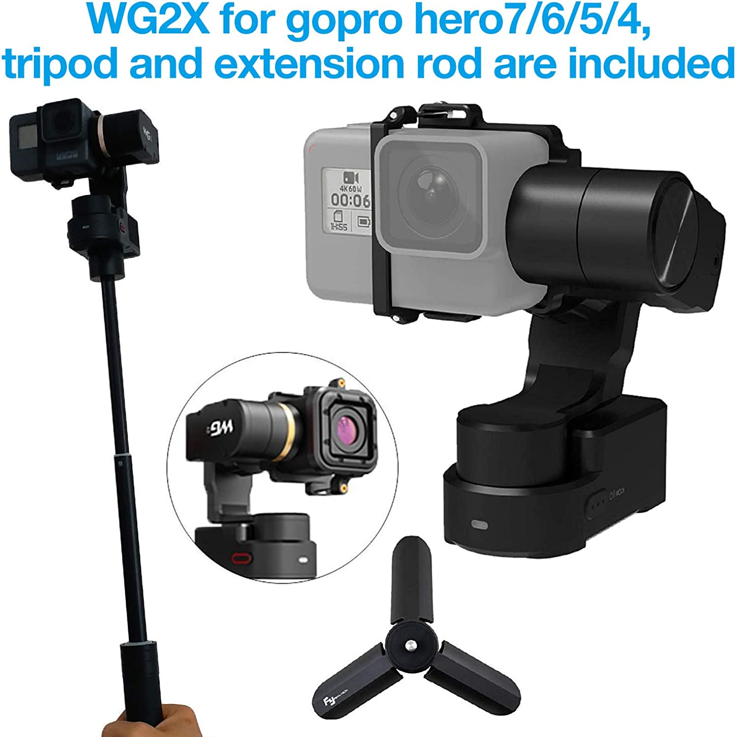 373646d6ff8e Feiyutech WG2 3Axis Wearable Gimbal for HERO5 Session AEE SJCam and ...