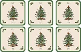 Spode Christmas Tree Hardback Coasters, Set of 6