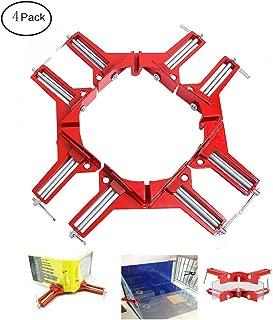 FashionclubsGLC juego de 4 abrazaderas de ángulo recto, abrazadera de esquina de ángulo de 90 grados de aluminio para marco de fotos, armario, kit de herramientas de carpintería
