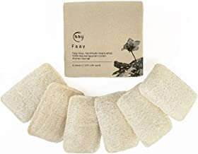 FAAY - Eco Friendly Sponges, Natural Sponges for Dishes, 6 pack Multi-Purpose Non-Scratch Scrubber Sponge, Pots, Pans, Utensils, Non-stick Cookware, Kitchen, Bathtub - 100% Handmade from Luffa Fiber
