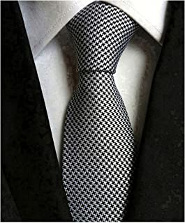 Secdtie Men's Classic Solid Color Ties Soft Business Casual Attire Suit Neckties