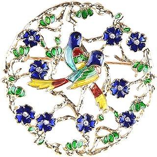 Ruikey Broches De Flores Rhinestone Broche De Pájaro Broches De Bisuteria Animales Broches De Bisuteria Broches De Ropa pa...