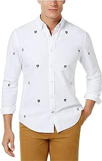 Tommy Hilfiger Mens Logo Shield Button Up Shirt