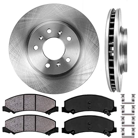 Fits: 2006 06 2007 07 2008 08 2009 09 Chevy Impala; Incl OE Series Rotors + Ceramic Pads SS Models Max Brakes Front /& Rear Premium Brake Kit KT015843