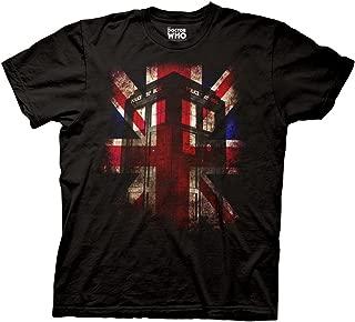 Doctor Who Tardis Union Jack Glow Adult T-Shirt