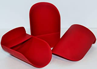 3 Tupperware Rocker Scoop for Canisters and Modular Mates in RED by Tupperware