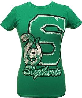 HARRY POTTER Shirt Juniors Collegiate Script Letter House Animal Logo Tee - All 4 Houses Available