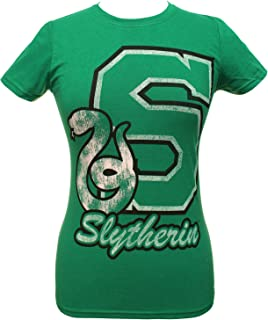 Harry Potter Shirt Juniors Collegiate Script Letter And House Animal Logo Tee - All 4 Houses Available