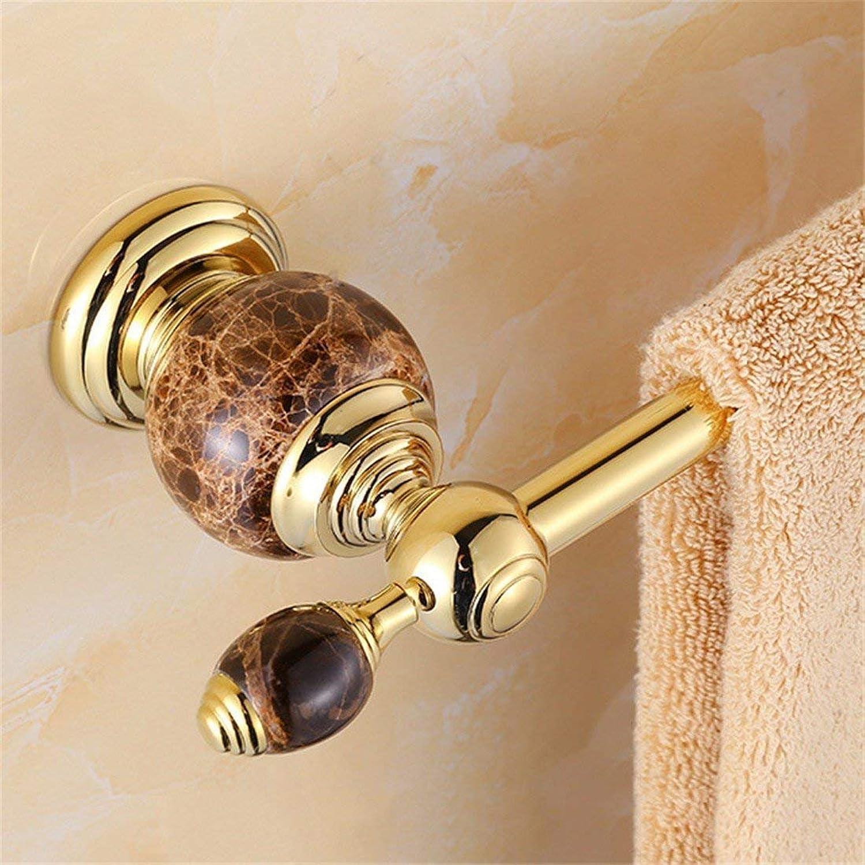 European Copper gold Black Jade Accessories for Bathroom Dry-Towels Costume,Single Rod