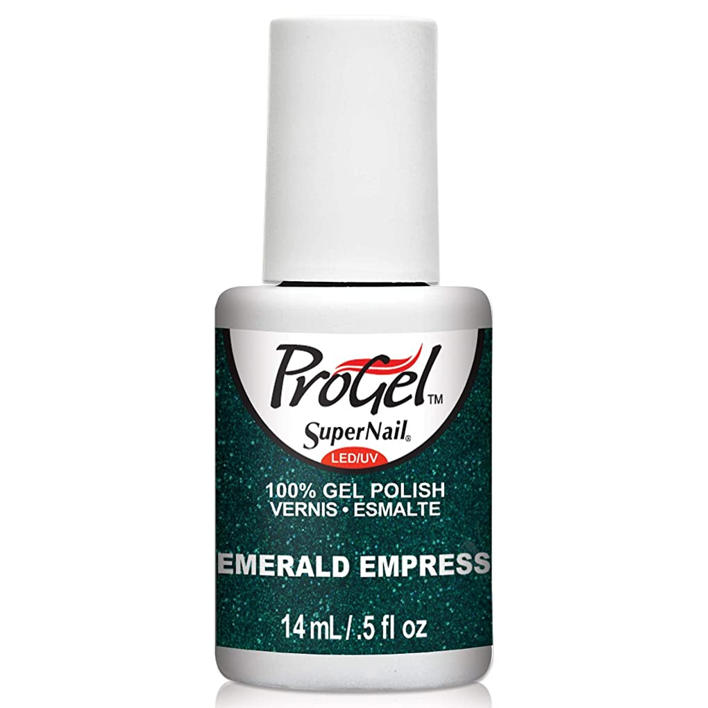 砦時計回り廃棄するSuperNail ProGel Gel Polish - Emerald Empress - 0.5oz/14ml