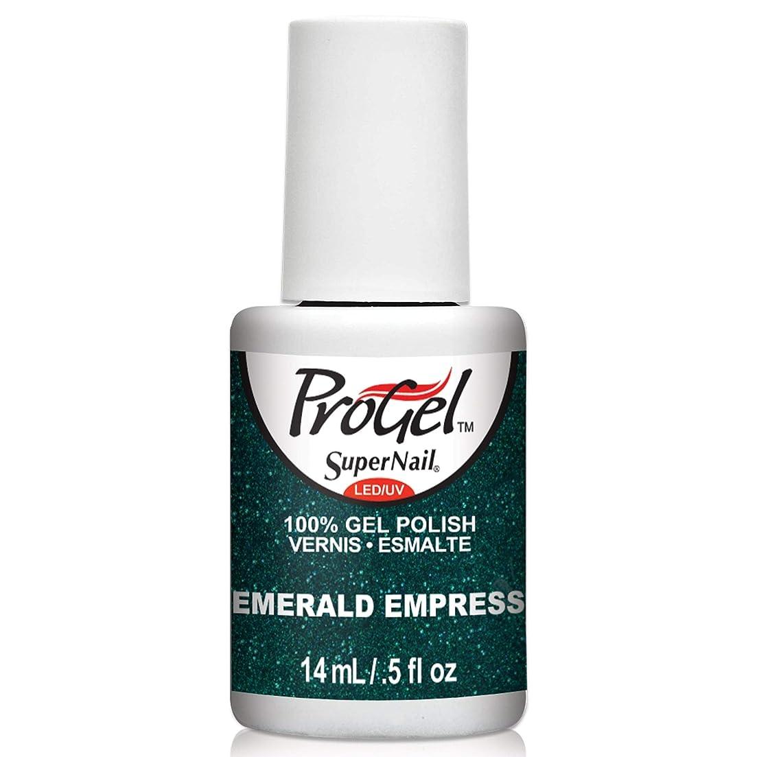 絶え間ない食欲荒涼としたSuperNail ProGel Gel Polish - Emerald Empress - 0.5oz/14ml