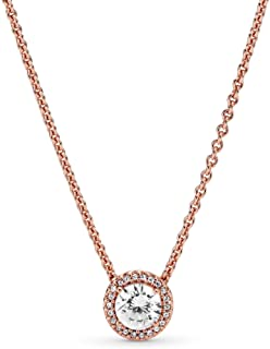 Pandora Women's Rose Necklace With Clear Cubic Zirconia - 386240Cz-45