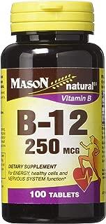 Mason Natural Vitamin B-12 250mcg - 100 Tablets