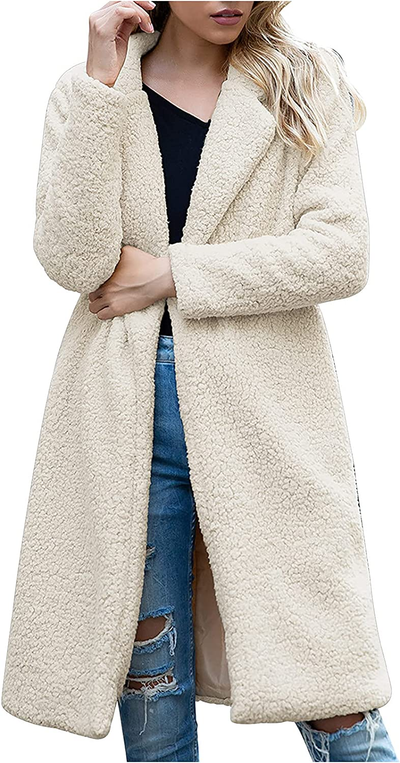 Womens Tops and Blouses Winter Solid Color Lapel Outwear Ladies Warm Buttons Jacket Lambswool Casual Cardigan