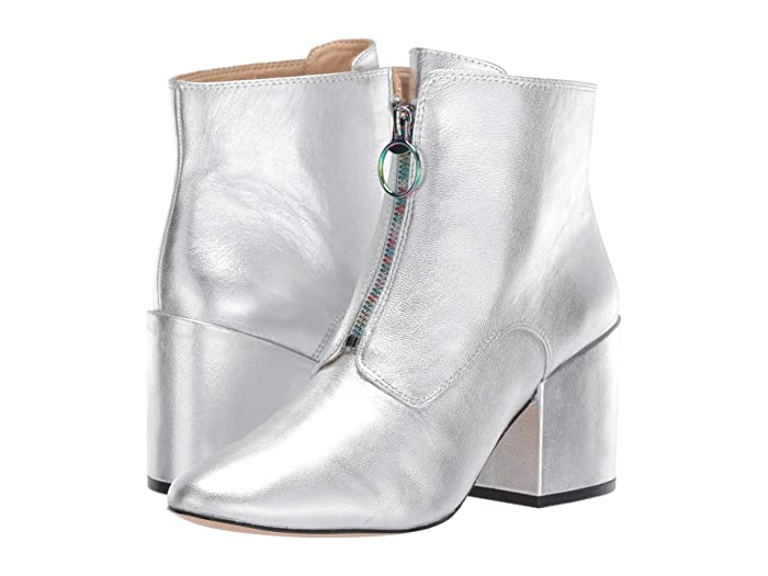Vintage Boots- Buy Winter Retro Boots Katy Perry The Justine Silver Tumbled Metallic Womens Boots $69.50 AT vintagedancer.com