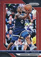2018-19 Panini Prizm Ruby Red Wave Refractor #57 Jeff Teague Minnesota Timberwolves Official NBA Basketball Trading Card