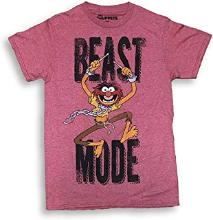 The Muppets Animal Drumming Red Heather Graphic Adult T-Shirt