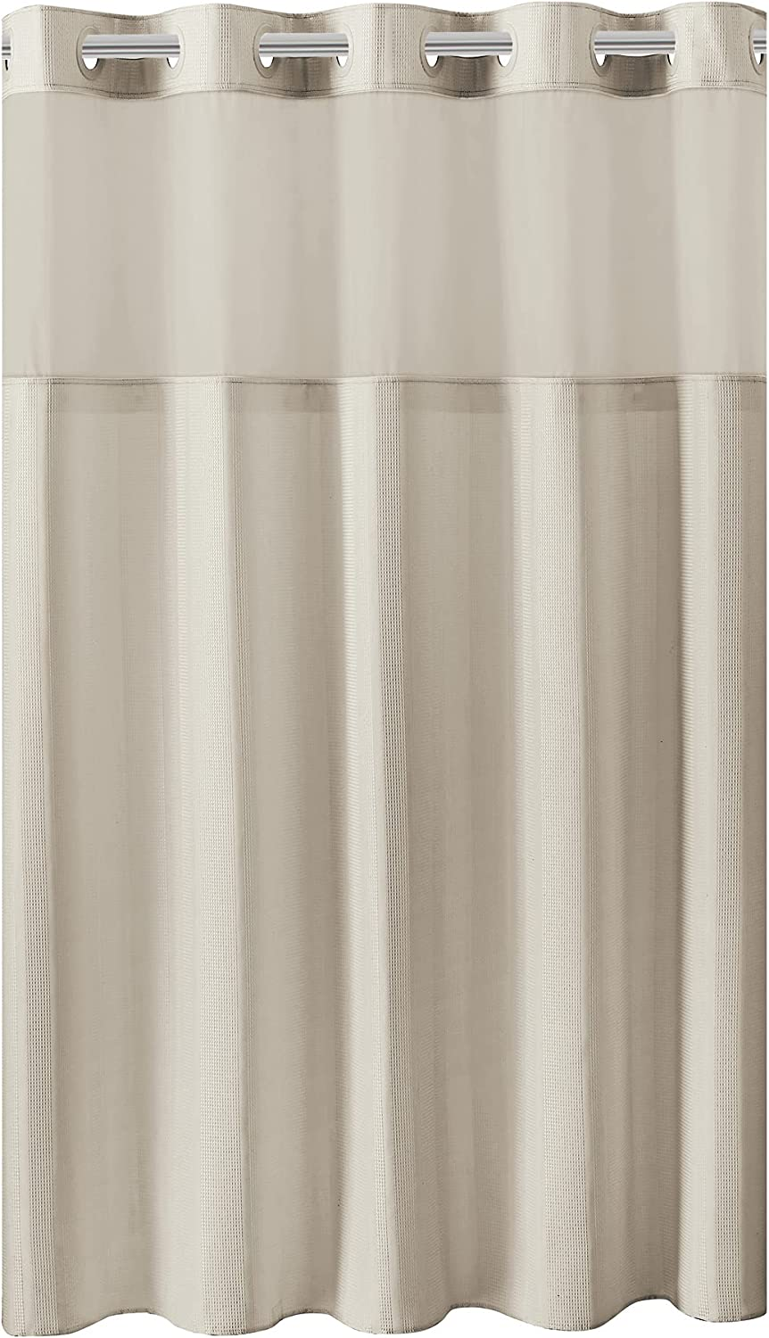 Hookless Stripped Waffle Max 71% OFF Shower Curtain Max 42% OFF 74 Beige X 71