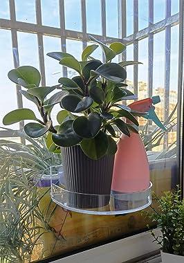 2 Pcs Ledge Suction Cup Window Shelf Ledge Acrylic Plant Window Boxes for Indoors Planters