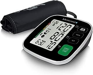 medisana BU 546 connect Tensiómetro de brazo sin cable, pantalla de arritmia, Bluetooth, escala de colores de semáforo de la OMS, para una medición precisa de la presión arterial y del pulso con funci