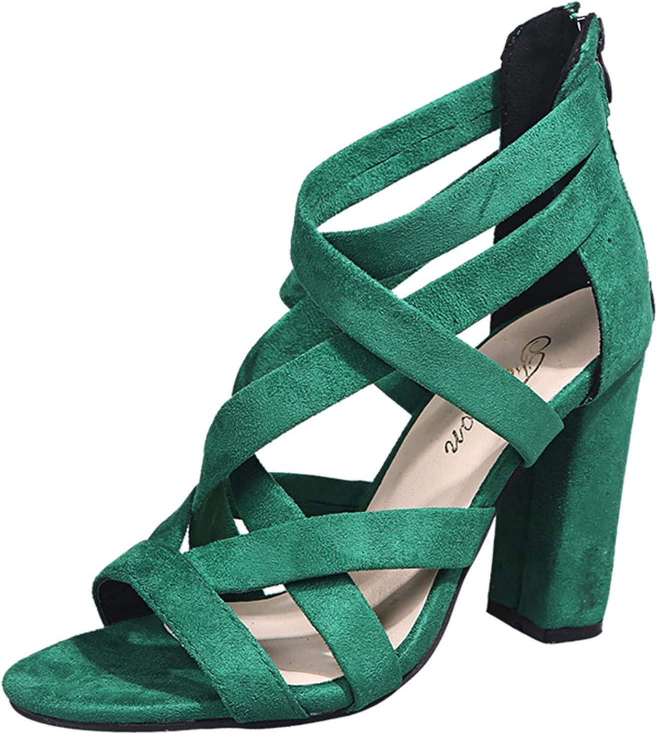 New product type PLENTOP Sandals for Women Popularity Summer Breathable High Z Heeled Square