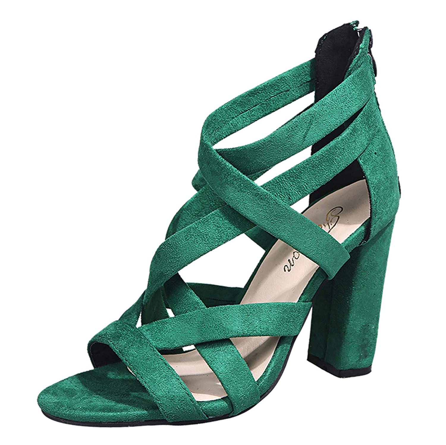Kledbying Women's High Stiletto Open Toe Strappy Dress Pump Heel Sandals Ankle Strappy Party Evening Prom Dress Shoes