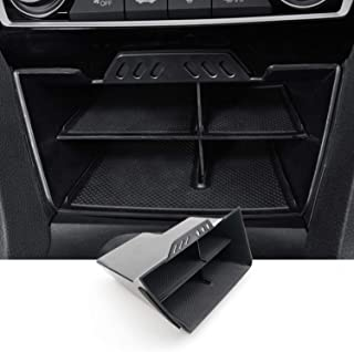 SKTU Center Console Organizer Compatible with 2016-2021 Civic Accessories Insert Honda ABS Black Materials Tray Armrest Se...