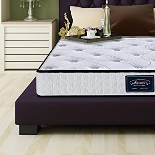 LCH Hybrid Mattress 8 Inch Queen Tight Top - Memory Foam Simmons Mattress - Sounds Proofing