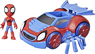 Spider-Man Marvel Spidey And His Amazing Friends Change 'N Go Web Crawler And Spidey Action Figure, 2 In 1 Vehicle, 4 Inch...