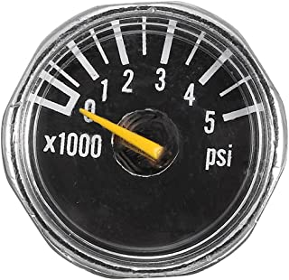 Paintball Tank Micro Gauge 1 inch 25mm 0 to 5000psi High Pressure for HPA Paintball Tank CO2 PCP