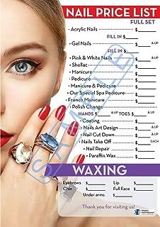 Nail Price List | Price List For Nail Salon | Salon Poster | Dimension 27