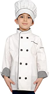 Personalized Custom Child Chef Hat and Jacket Halloween Costume