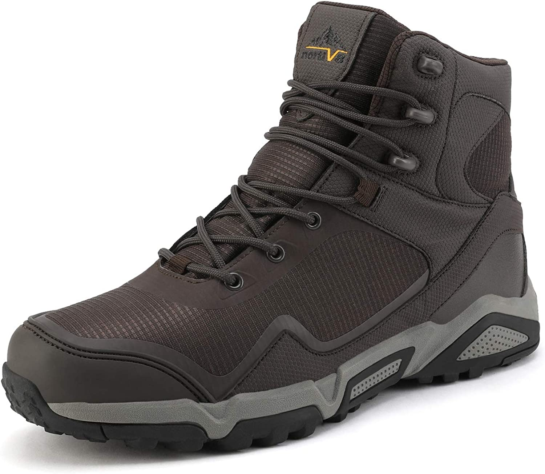 NORTIV 8 Men's Waterproof Hiking Boots Mid OFFer Back Purchase Trekking Outdoor