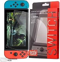 Orzly Glass Screenprotectors compatibel met Nintendo Switch - Premium Screenprotector van gehard glas TWIN PACK [2x Screen...