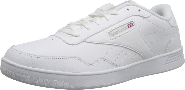 Reebok Men's Club MEMT Fashion Sneaker, White/Steel, 10 M US B00RW5B94M  | Billig ideal
